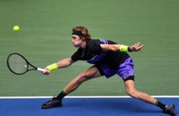 US Open - Andrey Rublev élimine Stefanos Tsitsipas, 8e mondial, au 1er tour après 3h54 de jeu