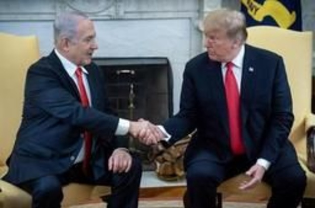 Trump erkent soevereiniteit van Israël over Golanhoogte formeel