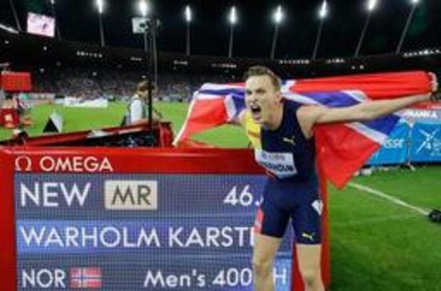 Diamond League Zürich - Warholm verbetert Europees record op 400m horden en benadert zelfs wereldrecord