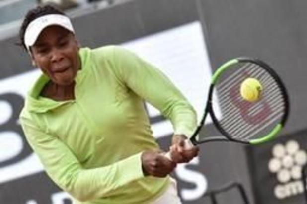 Elise Mertens éliminée au premier tour par Venus Williams à Rome, malgré 8 balles de match sauvées