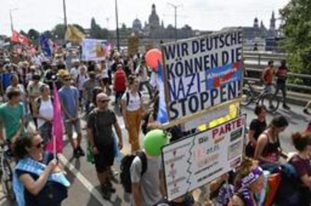 35.000 mensen betogen in Dresden tegen racisme