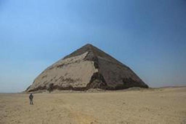 Egypte stelt 'knikpiramide' voor het eerst sinds 1965 weer open voor publiek