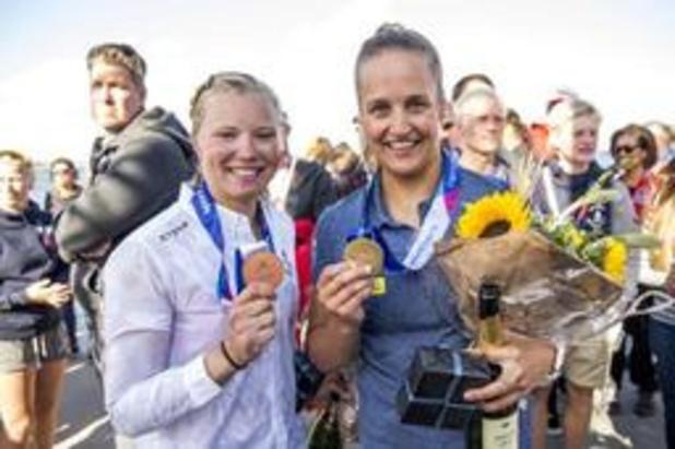 Euro de Laser - Emma Plasschaert médaille de bronze derrière Anne-Marie Rindom et Marit Bouwmeester