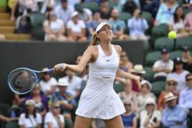 Sharapova haalt tweede ronde van Wimbledon niet
