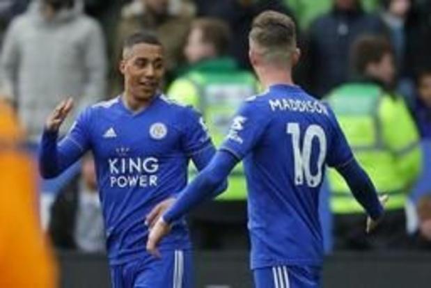 Les Belges à l'étranger - Youri Tielemans buteur lors de la large victoire de Leicester