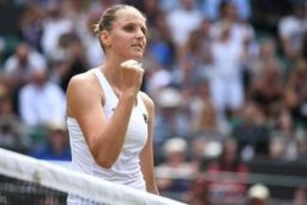 Wimbledon: Karolina Pliskova en 8e de finale