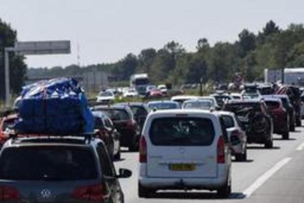 Op piekmoment 720 kilometer file in Frankrijk