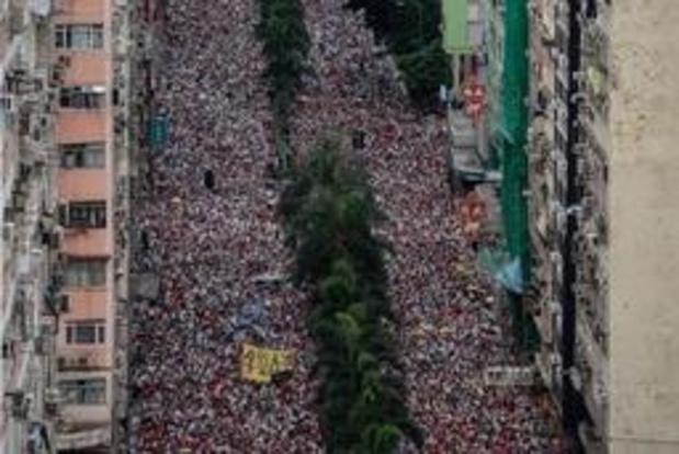 Tienduizenden mensen op straat in Hongkong tegen nieuwe uitleveringswet