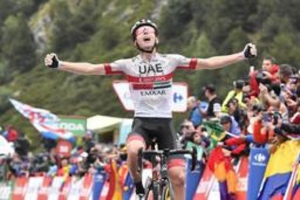 Tour d'Espagne - Triomphe slovène à l'arrivée de la 13e étape, Pogacar devant Roglic, toujours leader