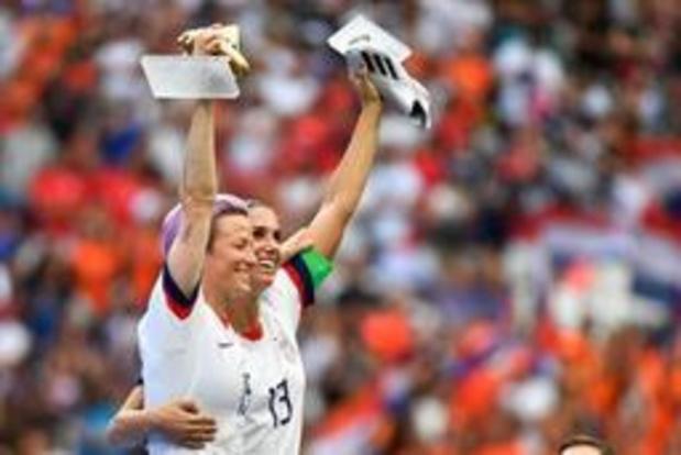 Mondial féminin - L'Américaine Rapinoe sacrée meilleure joueuse et buteuse du tournoi