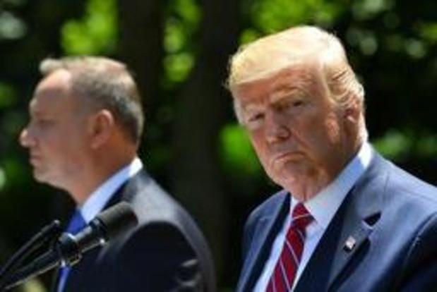 Trump zegt dat Polen basis zal bouwen voor 1.000 Amerikaanse troepen