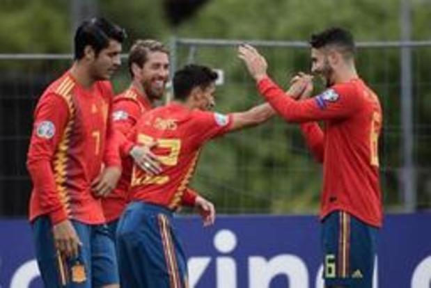 Kwal. EK 2020 - Spanje wint ruim bij Faeröer, maar moet wel tegendoelpunt slikken