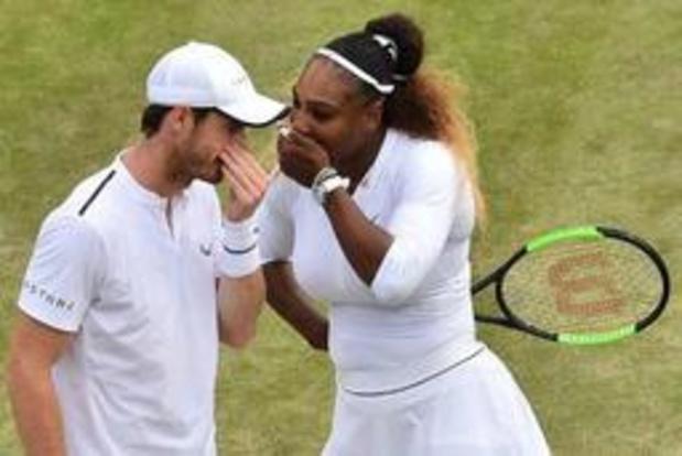 Avontuur van Murray en Serena Williams in gemengd dubbel op Wimbledon is voorbij