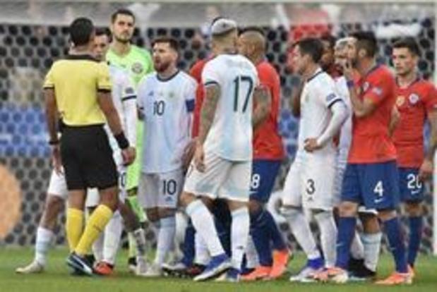 Copa America - Argentinië wint kleine finale tegen Chili, ondanks rood voor Messi