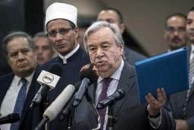 """Au Caire, Guterres met en garde contre """"la haine des musulmans"""""""