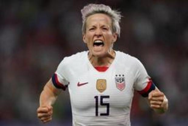 WK vrouwenvoetbal - Rapinoe leidt Verenigde Staten naar halve finales