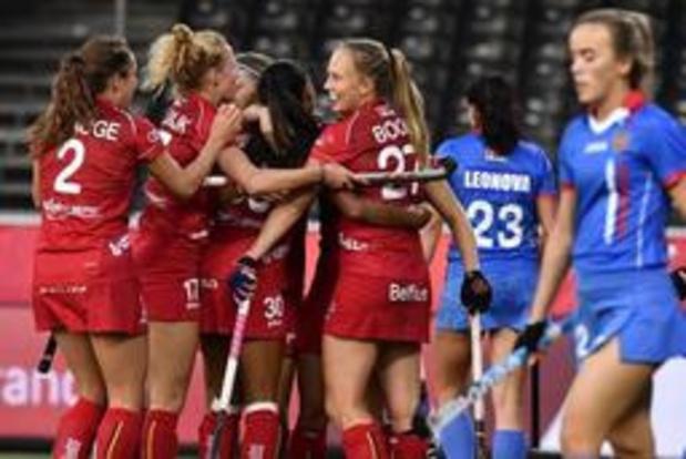 EK hockey (v) - Red Panthers zijn maat te groot voor Rusland