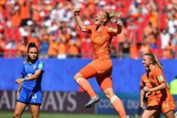 Les Pays-Bas en demi-finale du Mondial féminin après leur succès contre l'Italie