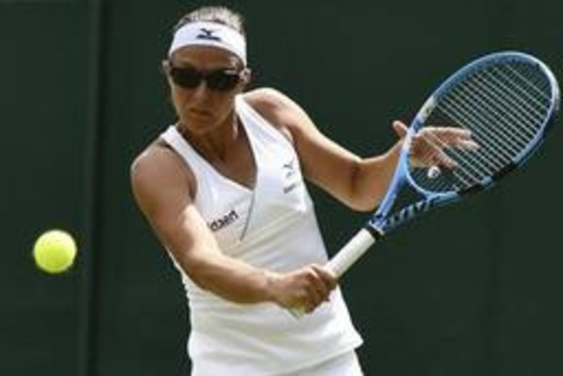 Wimbledon: Kirsten Flipkens stoot door in dubbelspel