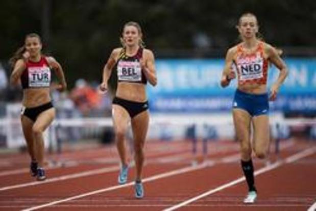 Paulien Couckuyt en Dylan Owusu beiden derde op 400 meter horden