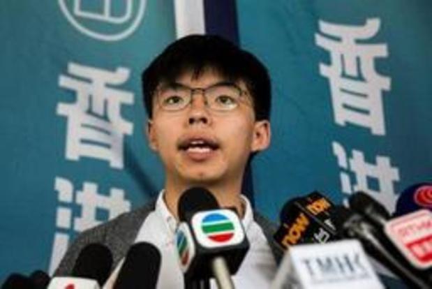Mouvement de contestation à Hong Kong: le militant prodémocratie Joshua Wong va être libéré de prison lundi
