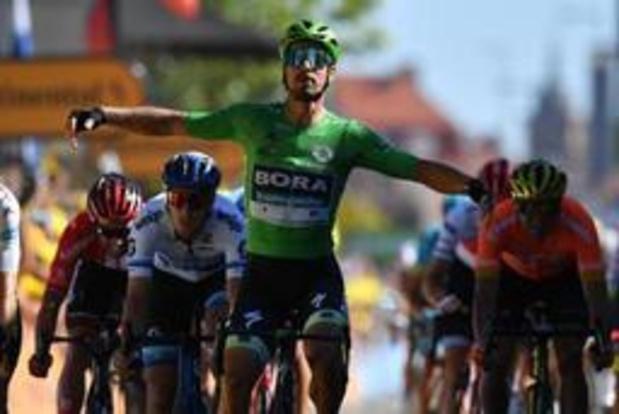 Peter Sagan houdt Wout van Aert van ritzege in Tour de France