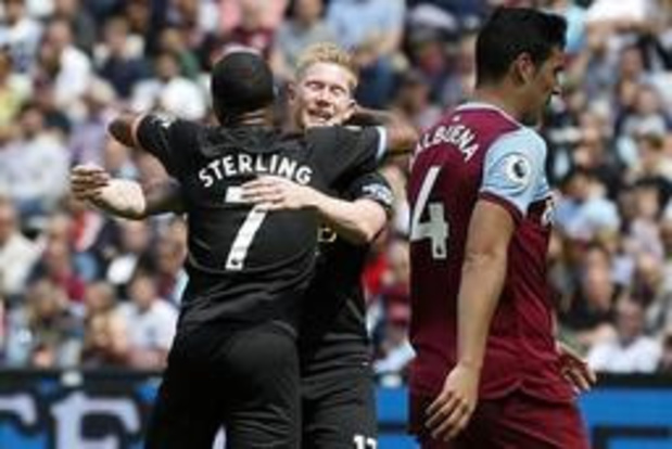 Manchester City et Kevin De Bruyne répondent en champions à Liverpool et écrasent West Ham