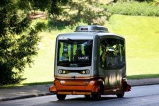 SAM-e, le véhicule autonome de la STIB embarquera ses premiers passagers vendredi