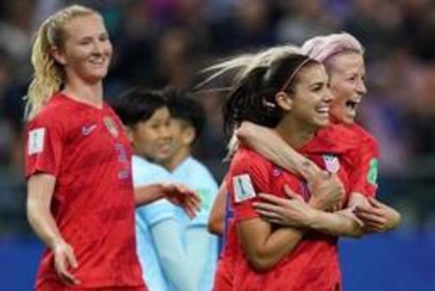 WK vrouwenvoetbal - Recordzege voor Amerikanen: 13-0 tegen Thailand