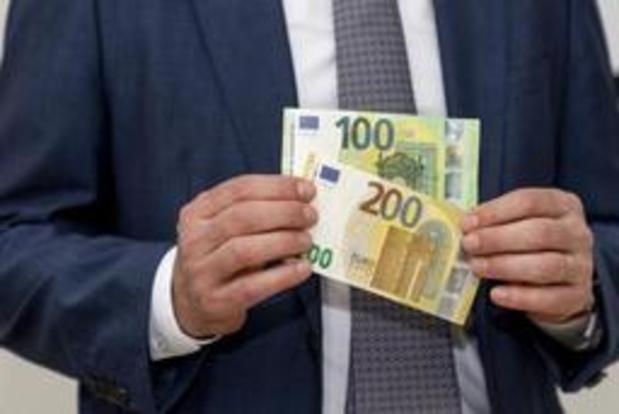 Nationale Bank van België stelt nieuwe biljetten 100 en 200 euro voor