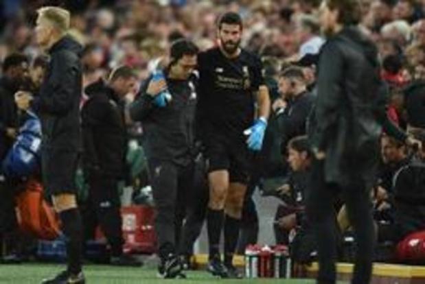Premier League - Liverpool ziet doelman Alisson Becker uitvallen met kuitblessure