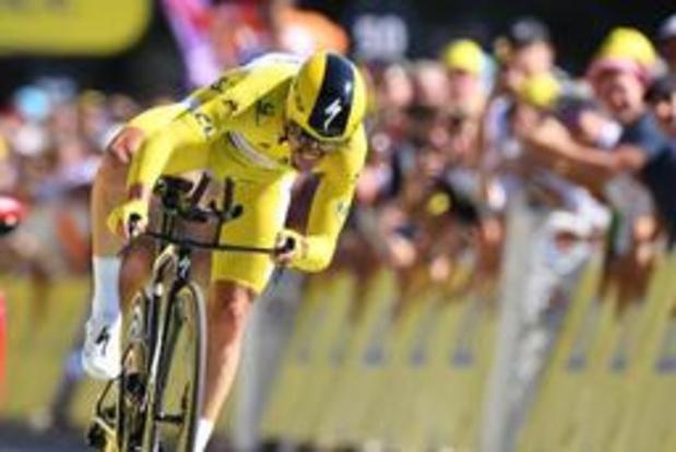 Alaphilippe wint tijdrit in de Tour, Van Aert geeft op