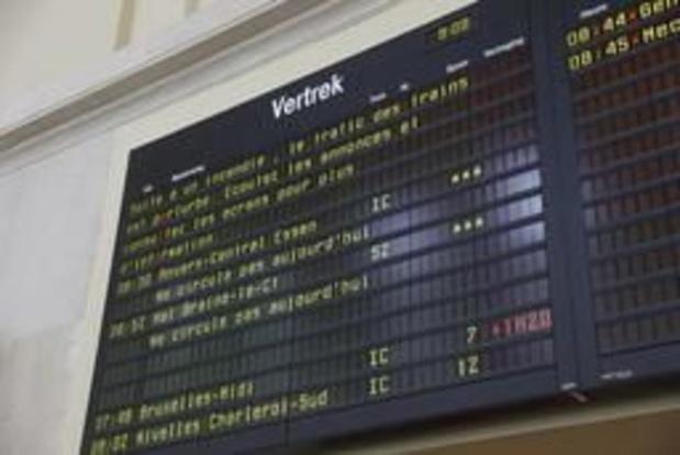 Pagaille sur le réseau ferroviaire: encore deux voies hors d'usage à Bruxelles-Nord