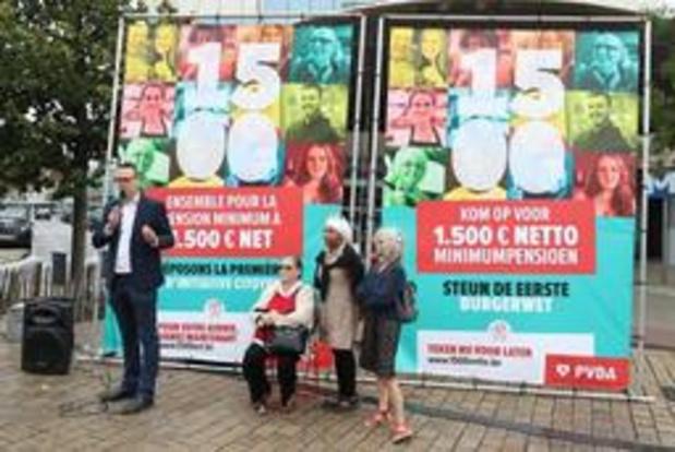 Le PTB lance une loi d'initiative citoyenne pour obtenir une pension minimum à 1.500 euros