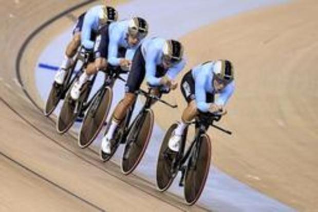 Les Belges septièmes et derniers en qualifications de la poursuite par équipes