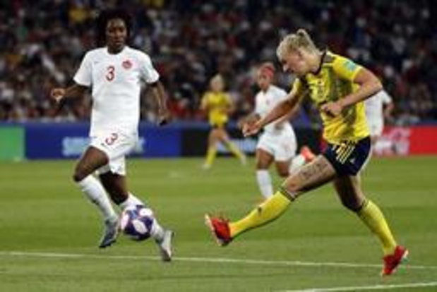 WK vrouwenvoetbal - Zweedse speelsters voorbij Canada naar kwartfinales