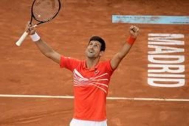 ATP Madrid - Novak Djokovic bat en finale Stefanos Tsitsipas et remporte son 33e Masters 1000