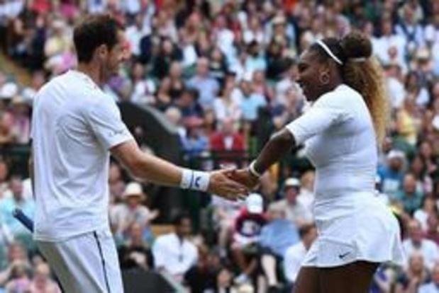 Wimbledon - Andy Murray en Serena Williams dubbelen verder