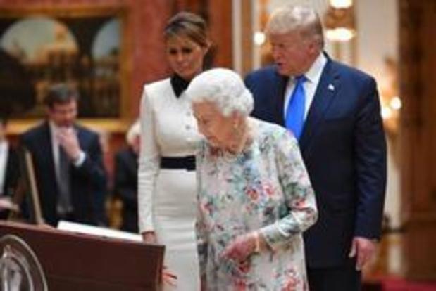 Amerikaanse president Trump krijgt koninklijk welkom in Londen