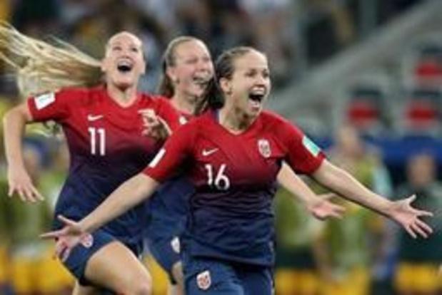 WK vrouwenvoetbal - Noorwegen na strafschoppen naar kwartfinales