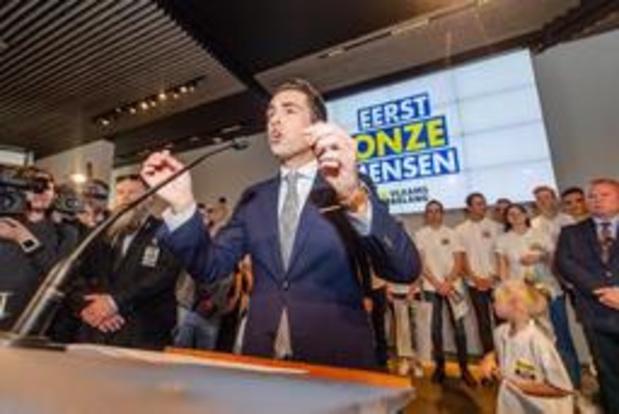 KAMER: N-VA blijft de grootste in Antwerpen, ook daar forse winst voor Vlaams Belang
