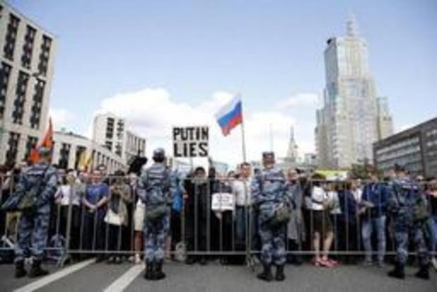 Meer dan 10.000 betogers in Moskou voor eerlijke lokale verkiezingen