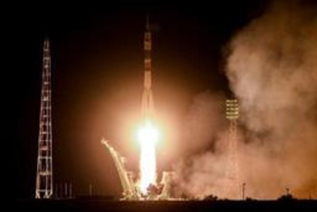 Un Italien, un Russe et un Américain s'envolent pour l'ISS