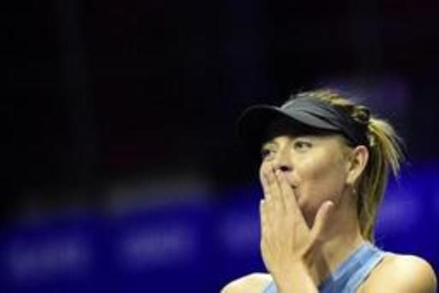 Maria Sharapova, victorieuse pour son retour, attend Kerber ou Bonaventure au 2e tour à Majorque