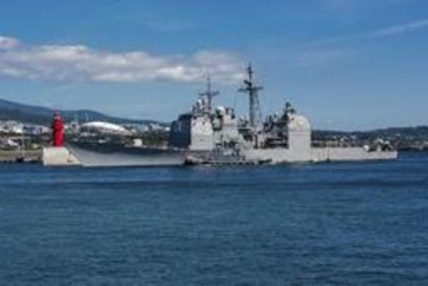 Amerikaans oorlogsschip vaart door Straat van Taiwan om China in het harnas te jagen