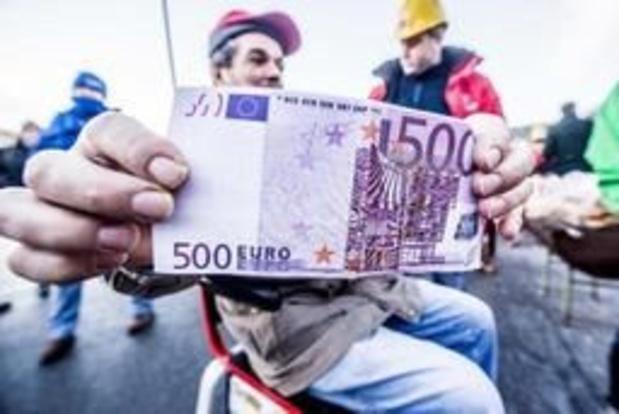 Le nombre de billets contrefaits découverts en Belgique en baisse
