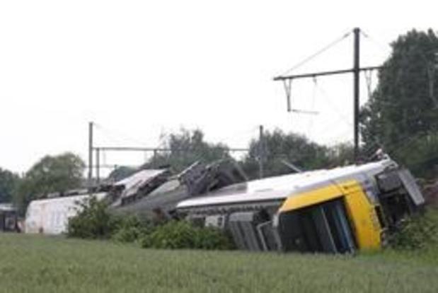Le train de voyageurs à vide, qui a déraillé à Neufvilles, roulait trois fois trop vite