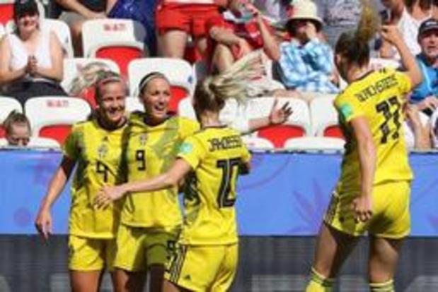 WK vrouwenvoetbal - Zweden verovert na winst in troostfinale tegen Engeland het brons