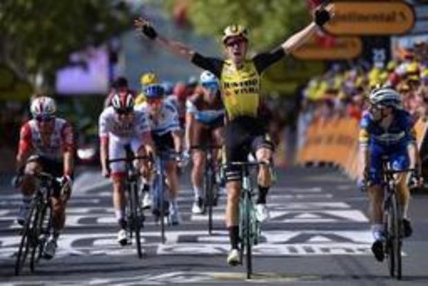 Wout van Aert remporte une étape marquée par des bordures fatales à de nombreux favoris