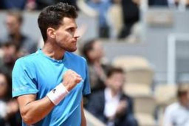 Dominic Thiem speelt net als vorig jaar finale tegen Nadal